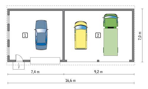 Rzut parteru POW. 102,8 m²