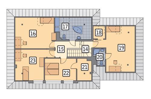 Rzut poddasza POW. 119,8 m²