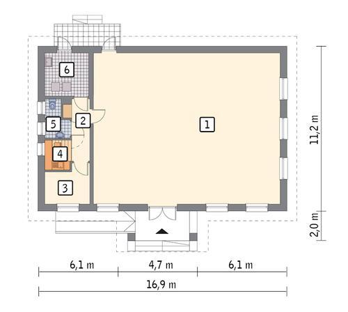 Rzut parteru POW. 157,7 m²