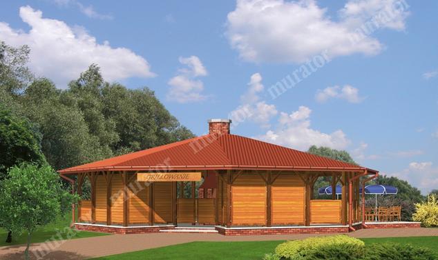 Projekt budynku usługowego:  Murator UC14S